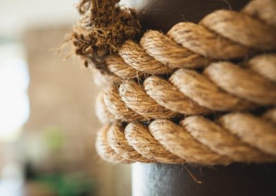 Twisted jute ropes
